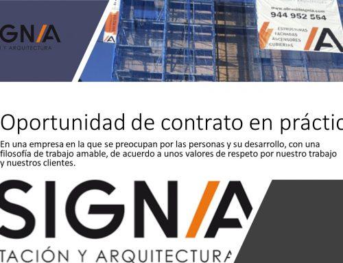 Contrato en prácticas en empresa de construcción